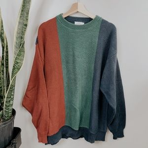 • CAPE ISLE KNITTER • color block knit sweater